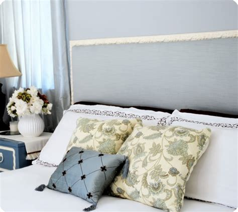 Feminine French Inspired Fabric Covered Headboard How To Make A Fabric Covered Headboard