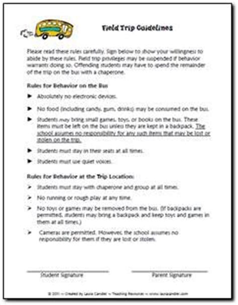 Parents Consent Letter Sle For Field Trip Need A Set Of Field Trip Guidelines Feel Free To Modify