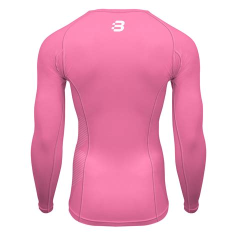 light pink long sleeve top mens compression long sleeve top light pink blackchrome