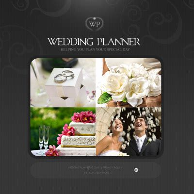 Wedding Cms by Wedding Planner Flash Cms Templates