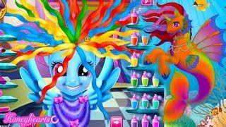 rainbow hairstyles games game rainbow dash hair style create a mermaid pony let s p