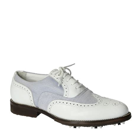 Handmade Leather Golf Shoes - handmade summer golf shoes in genuine leather and fabric