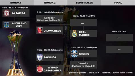 mundial de clubes  calendario  horarios del mundial de clubes el real madrid defiende el