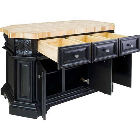 black kitchen island with butcher block top jeffrey acanthus kitchen island with maple butcher block top in antique white and