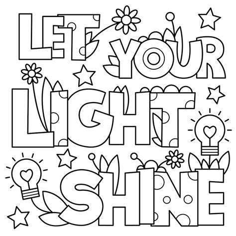 This Little Light Of Mine Im Gonna Let It Shine Coloring Let Your Light Shine Coloring Page