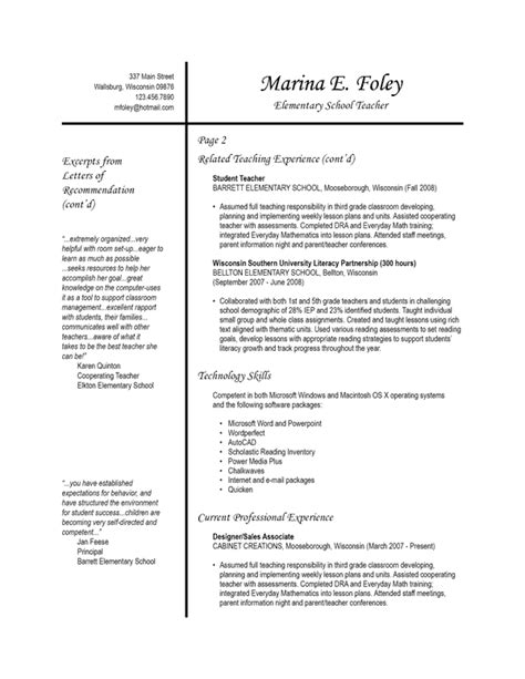 2 page resume template free resume templates 2 and 3