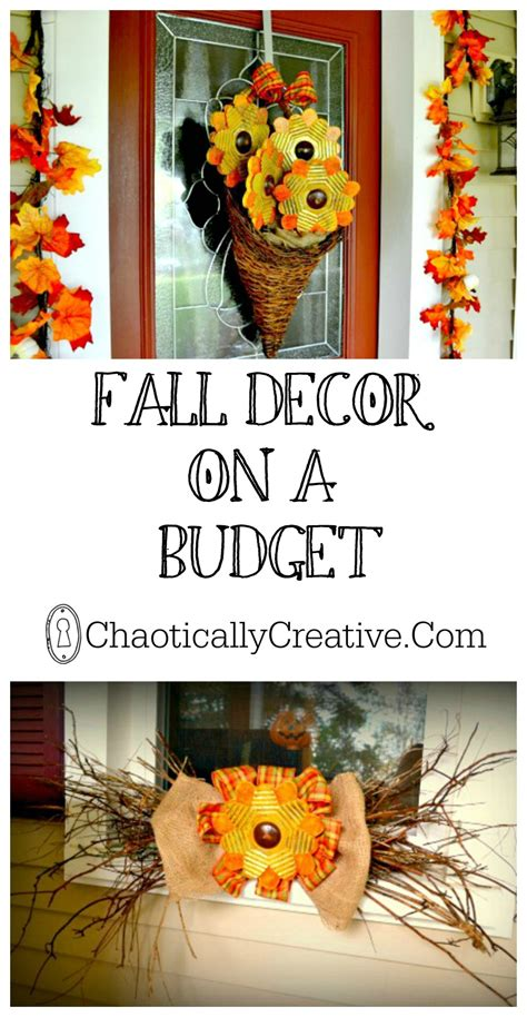 fall decorating on a budget fall decor on a budget chaotically creative