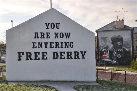 How To Do A Wall Mural bernadette devlin picture of free derry corner derry