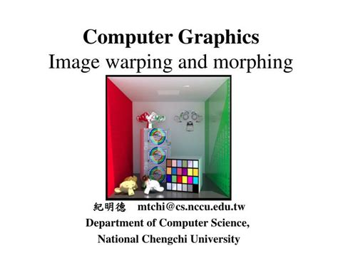 computer design for powerpoint ppt computer graphics image warping and morphing