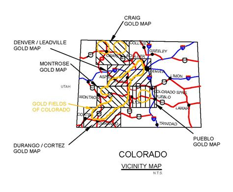 map of colorado gold gold mining locations gold prospecting equipment and