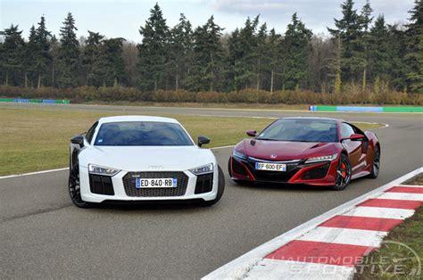 Nsx Vs R8 by Comparatif Honda Nsx V6 3 5 Vs Audi R8 V10 Plus