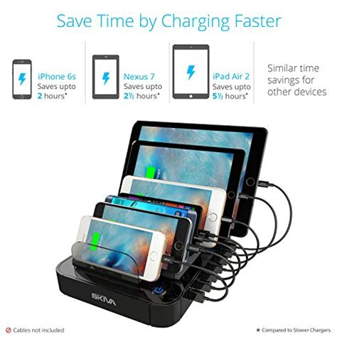 Mairu 0219 Smart Backpack Usb Port Charger Free Powerbank Grey skiva 84w 7 port usb charging station with wall ac input 2 4 s smart rapid charging ports for
