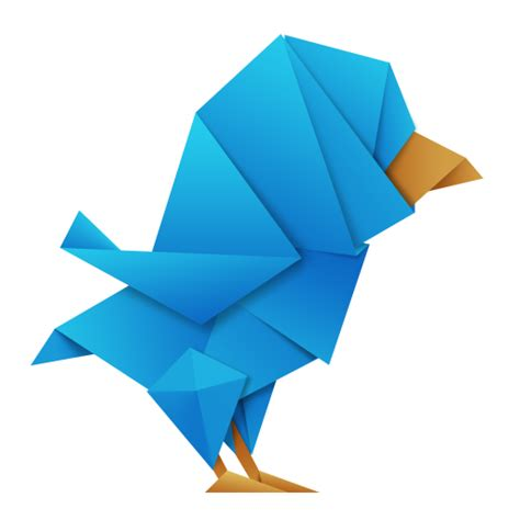 Transparent Origami Paper - collection of awesome origami birds icons free