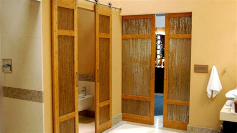 bamboo closet doors luxury bathroom bamboo barn doors with thatch resin by