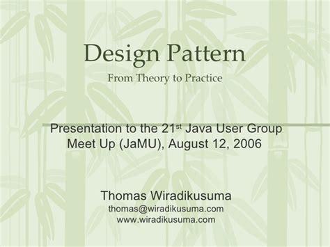 pattern making slideshare design pattern