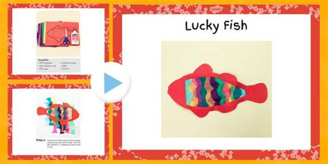 new year lucky fish lucky fish new year craft powerpoint new