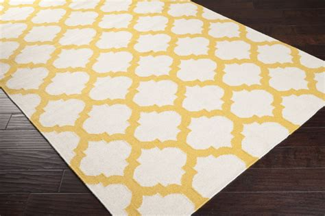Yellow And White Rugs by Golden Yellow And White Trellis Frontier Rug By Surya