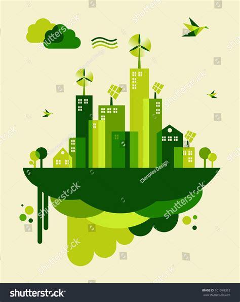 conservation through green building design earth habitat go green city industry sustainable development stock