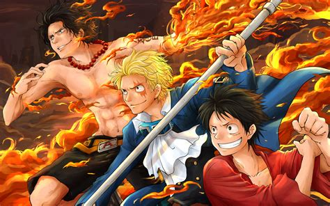 anime one ace sabo ace and luffy hd wallpaper and hintergrund