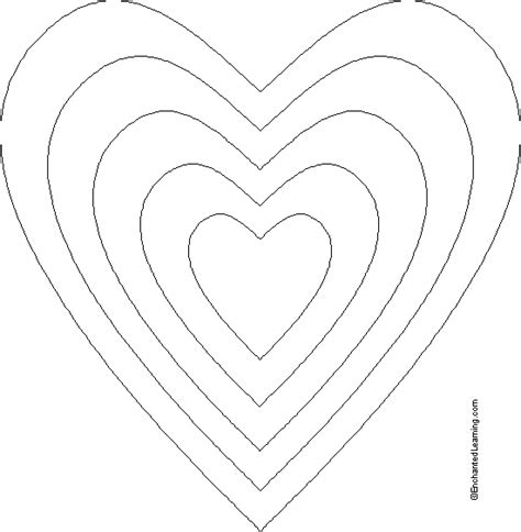 printable valentine template heart template printable joy studio design gallery