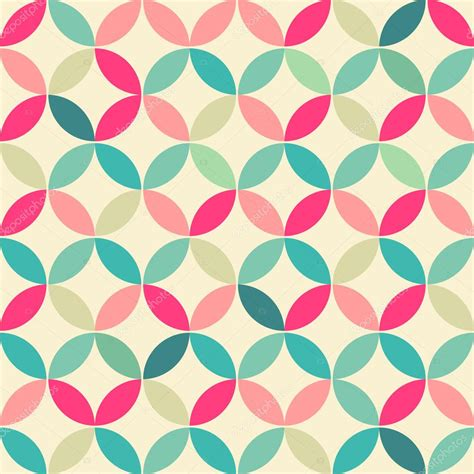 geometric pattern round abstract retro geometric seamless round pattern vector