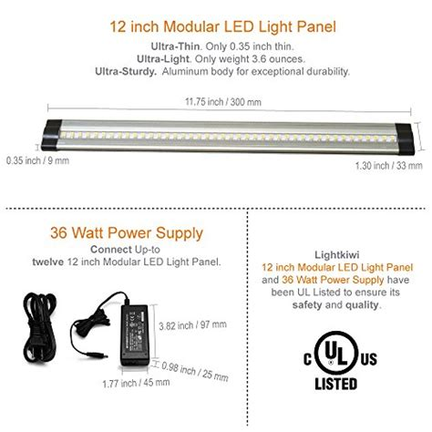 hbnw36 led dimmable under cabinet light 36 inch neutral lightkiwi dimmable led under cabinet lighting 12 panel kit