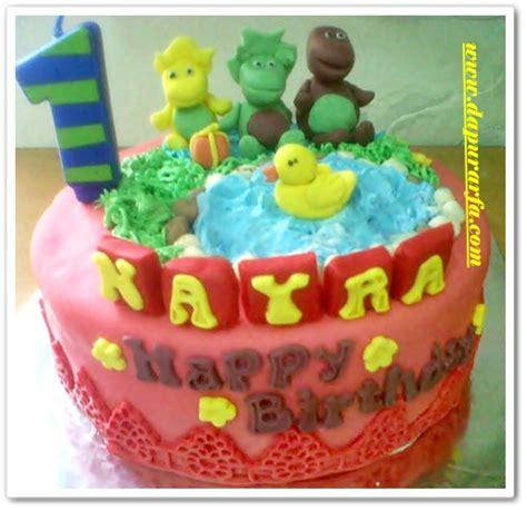 Cake Ultah And Friend Buttercream dapur arfa barney and friends