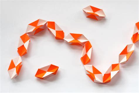 Origami Garland - make a geometric origami garland how about orange