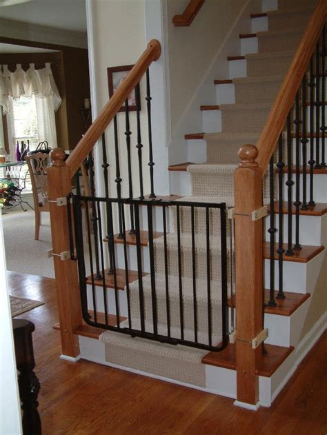 gate for stairs with banister baby gate for stairs with metal banister and wall