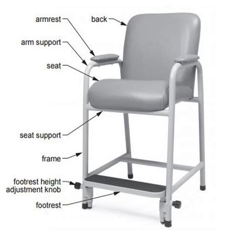High Chair With Adjustable Footrest by Graham Field Lumex Everyday Hip Chair With Adjustable