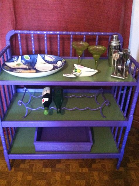 Diaper Changing Table Repurposed Into Mini Bar Trash To Repurposed Changing Table