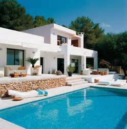 house with pool pool house with mediterranean style in ibiza spain designrulz