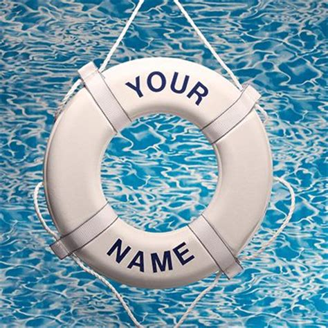 personalized custom life ring buoy imprint your name - Personalized Boat Buoy