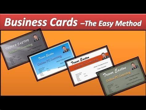 Business Card Make Business Cards Powerpoint 2010 Youtube Business Card Template Powerpoint 2010