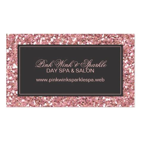 glitter for card pink glitter look business card zazzle