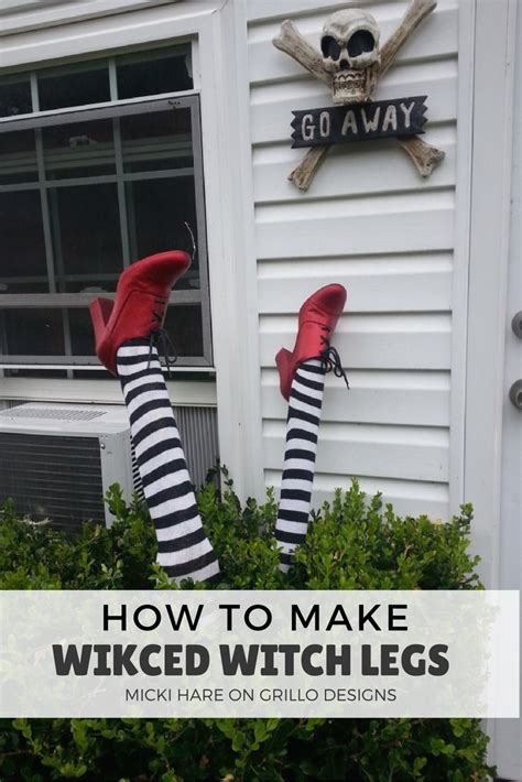 Decorating Your Home For Halloween how to make wicked witch legs grillo designs