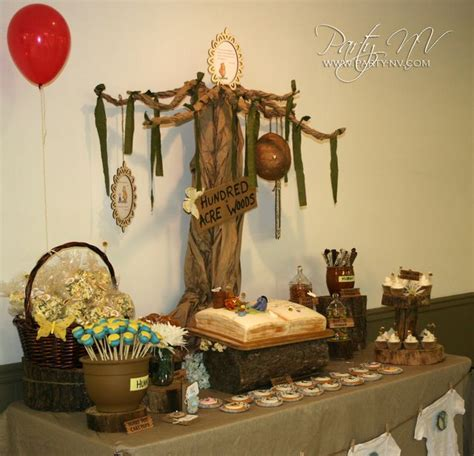 classic pooh baby shower ideas baby shower tree