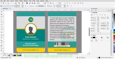 tutorial membuat id card dengan photoshop membuat id card di corel tutorial membuat id card modern