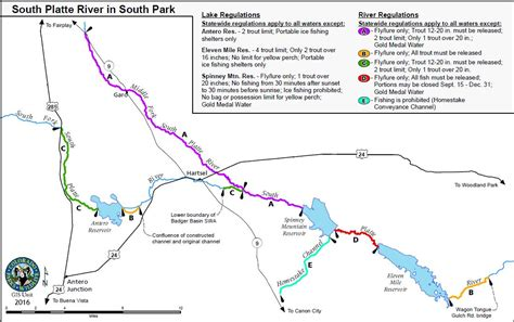 platte river map www pixshark diy guide to fly fishing the south platte river in