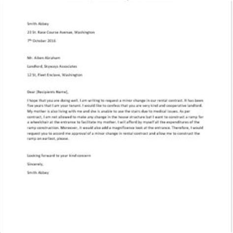 Lease Agreement Changing Letter Formal Official And Professional Letter Templates
