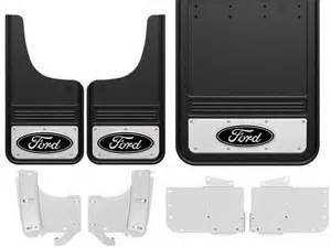 Ford Mud Flaps 2017 Ford F350 Black Oval Gatorback Dually Mud Flap Set