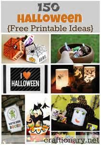 Halloween Decorations Free Printables Craftionary
