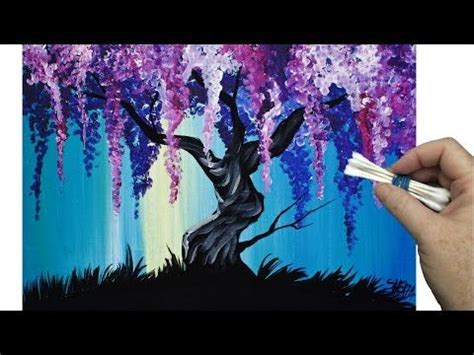 can you use acrylic paint on cotton canvas lilacs cotton swabs painting technique for beginners easy