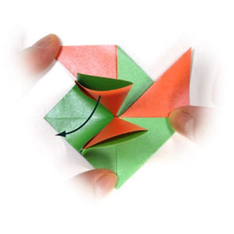 Single Fold Origami - how to make an origami menko ii out of single square paper