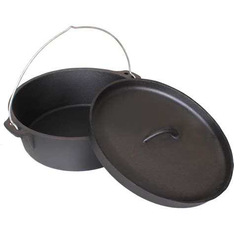 Cajun Cookware 21 Quart Seasoned Cast Iron Camp Pot