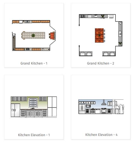 kitchen templates for floor plans kitchen planning software easily plan kitchen designs