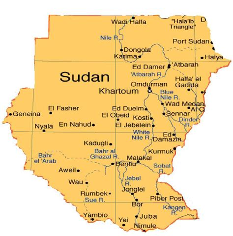 map of sudan sudan map pictures and information