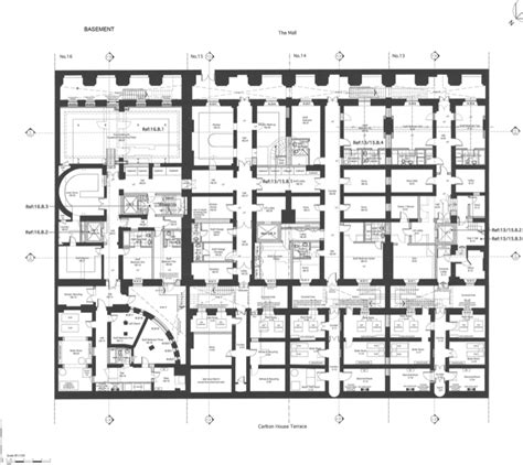 floor plans to 13 16 carlton house terrace in