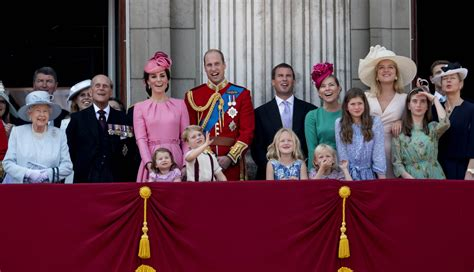 the color royal royal family out in for s birthday trooping