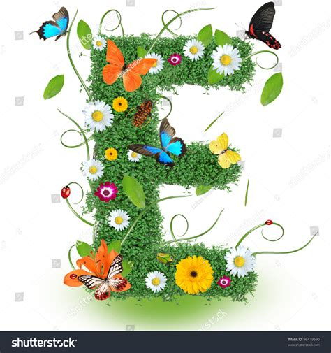 beautiful images of letters beautiful spring letter e stock photo 96479690 shutterstock